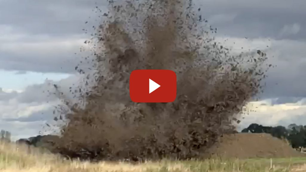YouTube video showing the detonation of a British WWII 250lb bomb